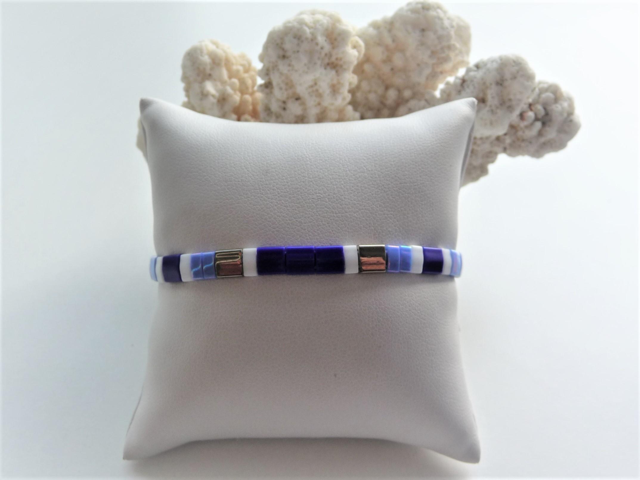 Perle TILA, bracelet lien coulissant