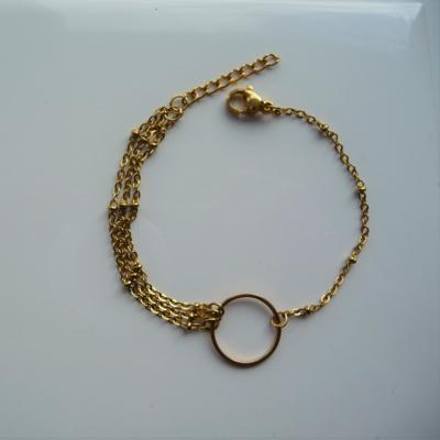 Multi chaine et anneau en acier inoxydable   22 €